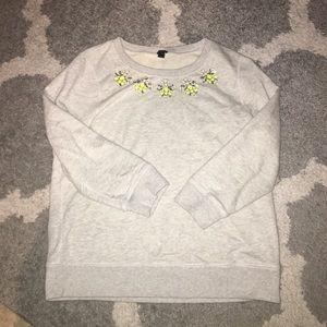EUC J.Crew embellished 3/4 sweater M ❤️